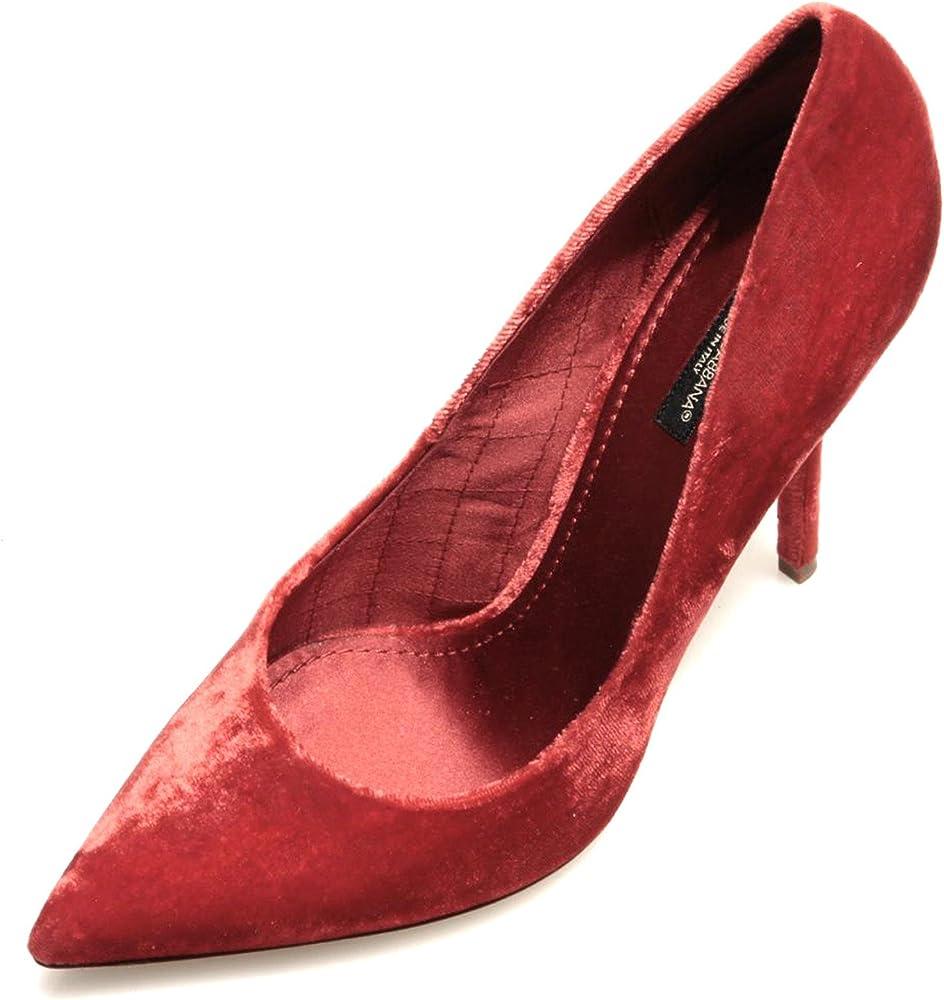 Dolce&gabbana scarpa donna bellucci velluto rosso 79100