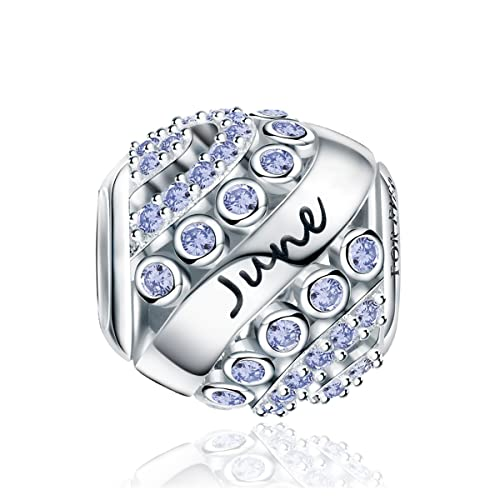 960d08850 Forever Queen Birthstone Charms fit Charms Bracelet- 925 Sterling Silver  Bead Charms, Happy Birthday
