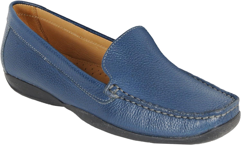 Damen-Moccassin MARCIA blau  | Klein und fein