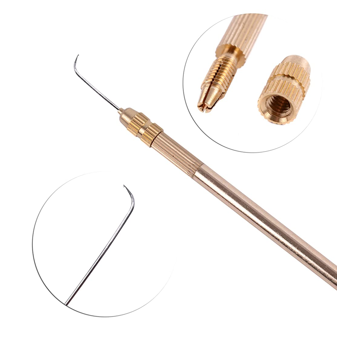 German Needle+Holder for Lace Wig Accessories Weaving Ventilating Needles and Holder