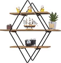 RiteSune Floating Shelves Wall Mounted, Rustic Wood Wall Storage Shelves for Bedroom Living Room Bathroom Kitchen Office 24 inch
