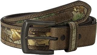 RealTree Camo Men's Camouflage Belt/tan Leather Trim