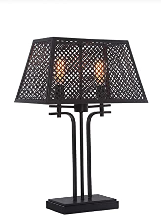Titech Lighting Corbello 2 ライト テーブルランプ 16インチ エスプレッソ メタルシェード