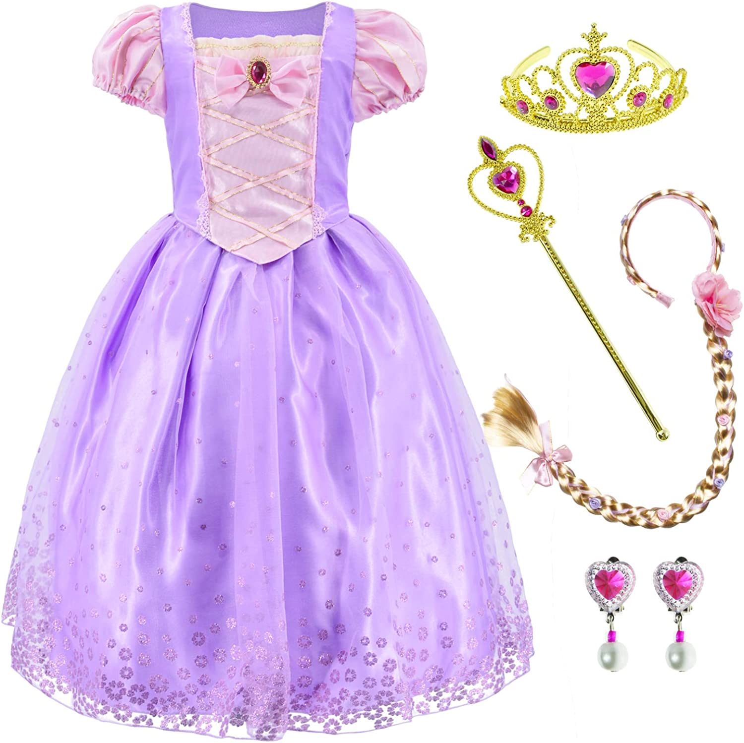 Ranking TOP8 Princess Costume Dress for Girls Earin with Braid Party Up low-pricing