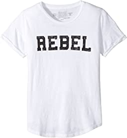 Rebel Short Sleeve Slub Cotton Tee (Big Kids)
