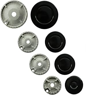 comprar comparacion Spares2go grabadora de Gas diseño de corona de fuego tapa para Ikea para horno de cocina (tamaño pequeño, 2 medio y tamaño...