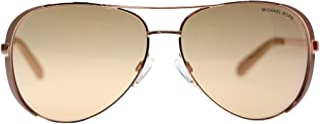 Michael Kors Chealsea Womens Sunglasses M5004 1017R1 Rose Gold Aviator 59mm