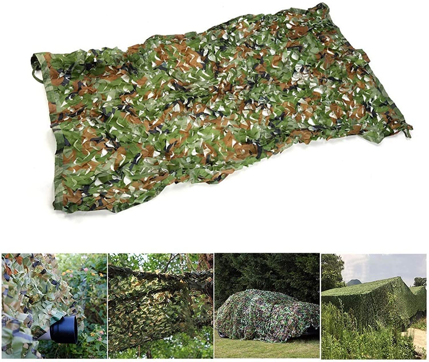 Camouflage net Camouflage Net, 4m×5m Lightweight Shade Net for Theme Party Decoration Car Cover Outdoor Hunting Camping (MultiSize Optional)