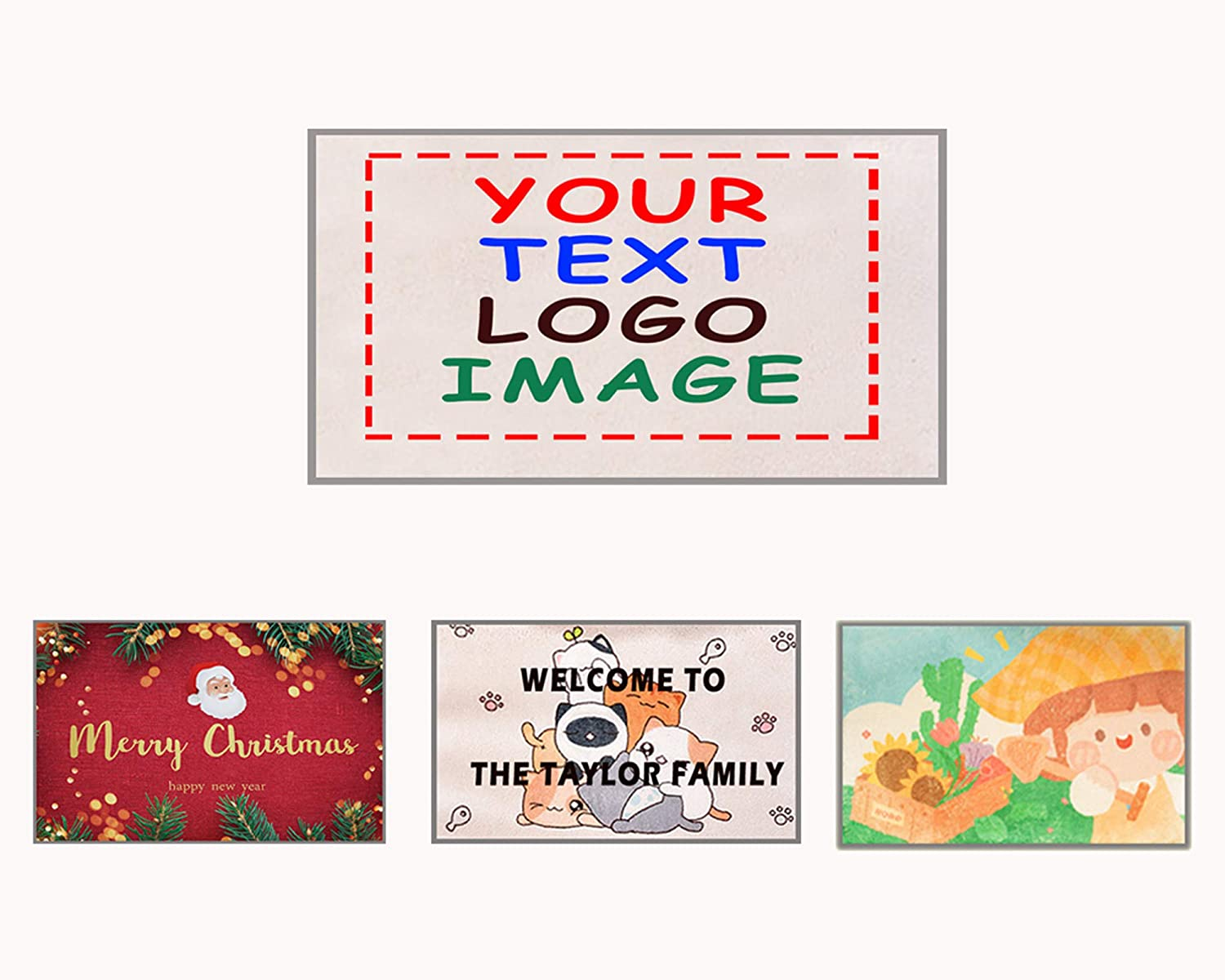 Custom Personalized Door discount Super-cheap Mat Customized Photo Text Non-Slip Was