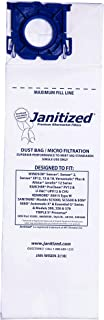 Janitized JAN-WISEN-3(10) Premium Replacement Commercial Vacuum Paper Bag, Windsor Sensor XP12, 15 and 18, Versamatic Plus, SSS Prosense, Kenmore 50015, OEM#5300, 86000500, 50015 (Pack of 10)