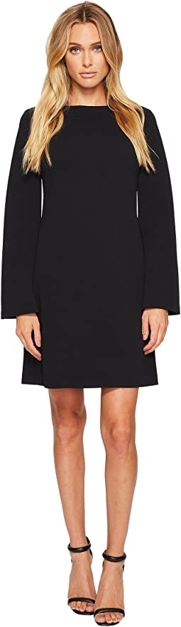 Donna Morgan - Roxie Boat Neck Shift Dress with Split Sleeve