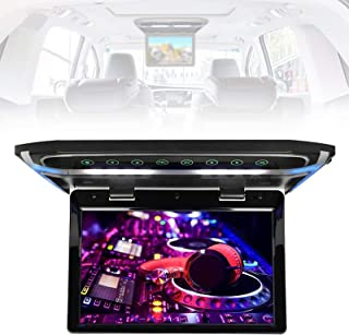 """10.1"""" Car Overhead Monitor Video HD Digital TFT Wide Screen, Car Roof Flip Down Player with LED light USB SD 180° max Open..."""