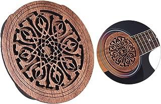 Kalaok Guitar Wooden Soundhole Sound Hole Cover Block Feedback Buffer Mahogany Wood for EQ Acoustic Folk Guitars