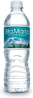 Agua Santa María 100% pura de manantial,  500 mililitros. Paquete de 24