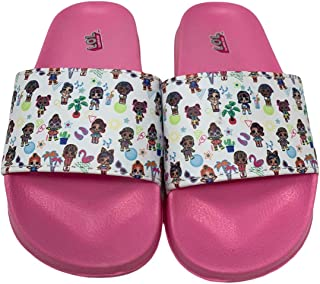 Officially Licensed L.O.L Surprise! Girls Multi Character Fashion Sandal Slides Sizes 9-3