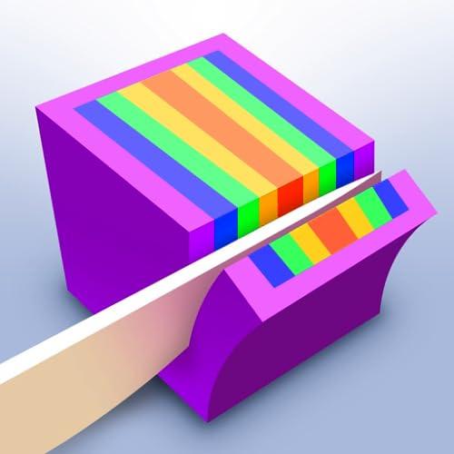 ASMR Satisfying Color Sand Knife Slicing Game