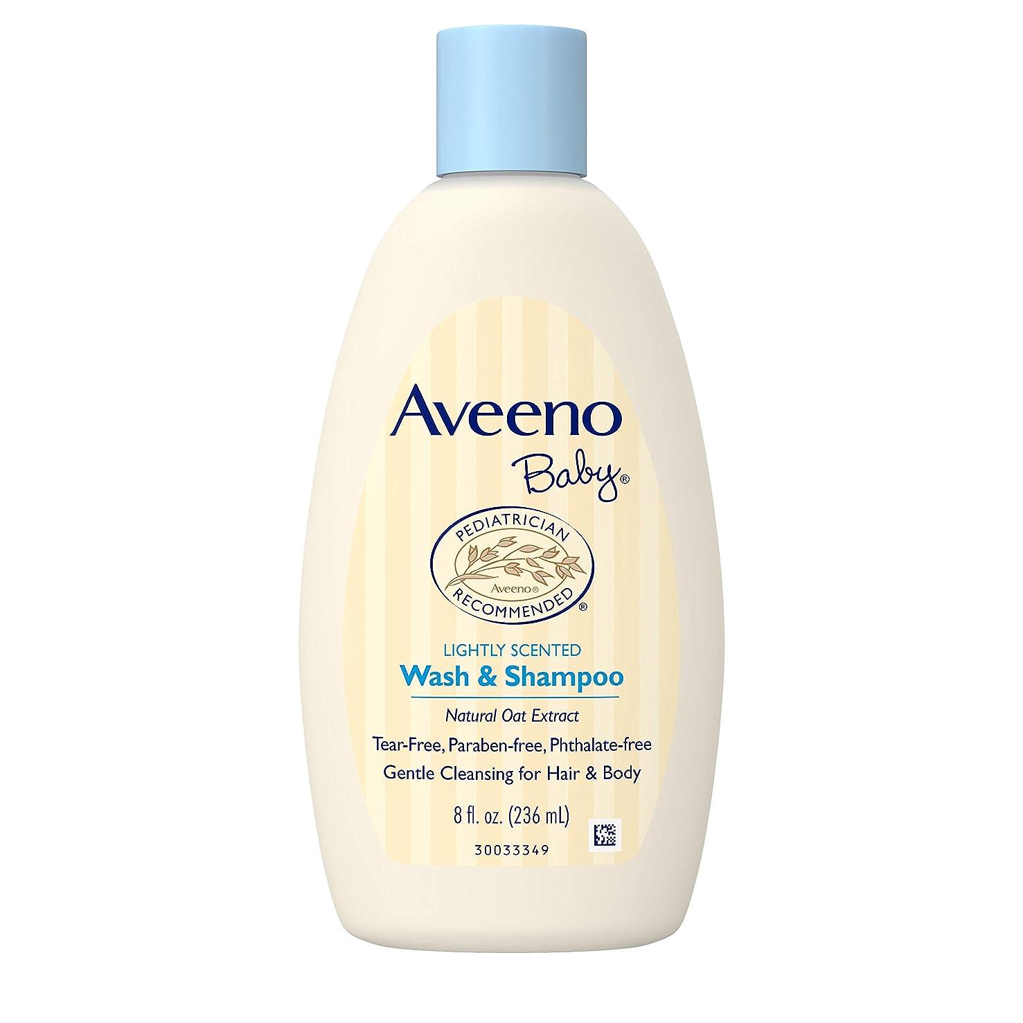 絶望比較大学Aveeno Baby Daily Moisture Frangrance Free Wash & Shampoo 236mL