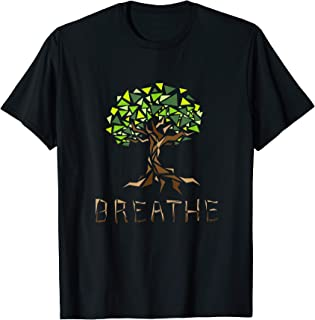 Breathe Plant Un Árbol Verde Plantación Abstracto Verde Camiseta
