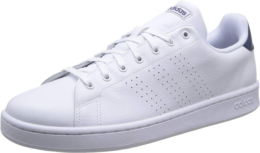 Adidas advantage scarpe sneakers da ginnastica per uomo in vera pelle F36423A