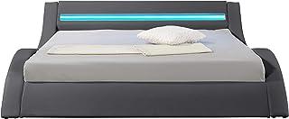 Hypnia - Lit Design LED gris-160 x 200 (cm)