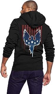 UNSUWU Men`s Hoodies Sweatshirt Full-Zip Fleece Pullover Hoodie Jackets Athletic Sport Coat for Men, Teens