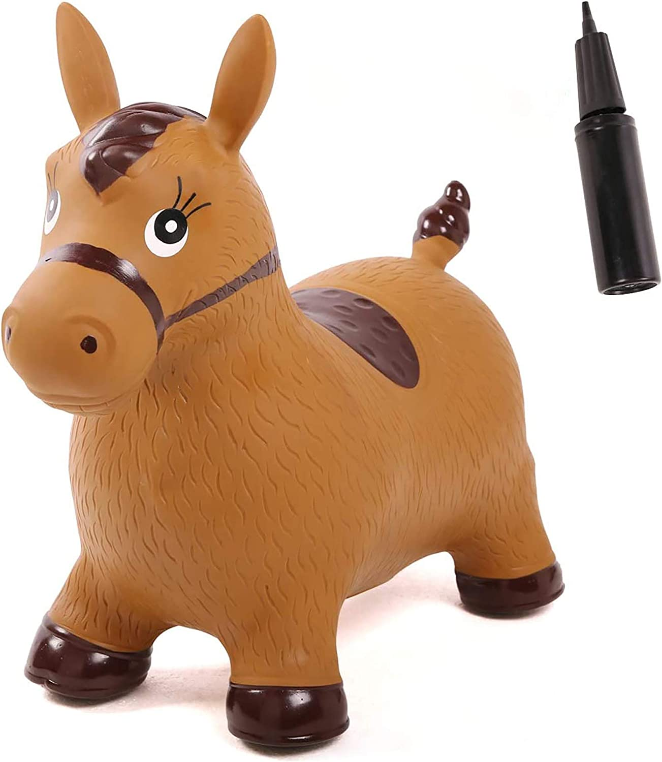 Spiekind Bouncy Horse Inflatable Animal Hopper, Pump Included, R