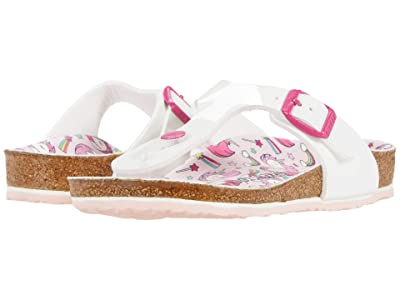 Birkenstock Kids Gizeh (Little Kid/Big Kid) (Unicorn White Patent Birko-Flor) Girls Shoes