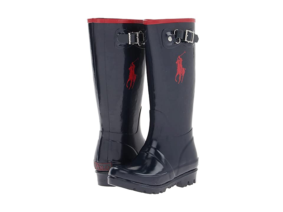 Polo Ralph Lauren Kids Ralph Rainboot (Toddler) (Navy/Red Rubber) Kid