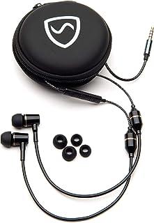 SYB — Auriculares antirradiación (Negro, en la Oreja, con Estuche)