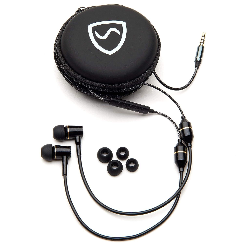SYB outlet Air Tube Stereo Anti Jack Radiation Regular dealer Headset Black 3.5mm