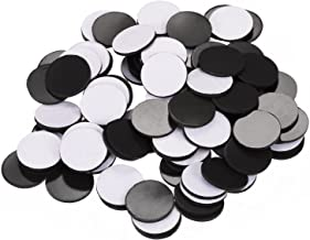 Pangda Flexible Rubber Magnets Discs 3/4 Inch Round Magnetic Discs with Adhesive Backing, 100 Pieces