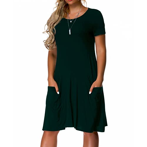 8af964412c VOIANLIMO Women s Plus Size Casual Loose T Shirt Mini Dress with Pockets