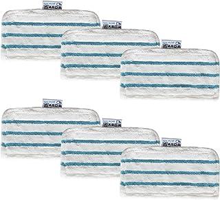 Ugardo Lot de 6 chiffons en microfibre lavables pour nettoyeur vapeur Black FSMH13151SM FSM1630 FSM1616 FSM1605 FSMP20 Decker Steam Mop FSMH1321JMD