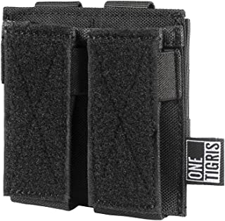 OneTigris Single/Double/Triple Pistol Mag Pouch with Front Loop Panel for Glock M1911 92F Magazines 40mm Grenade