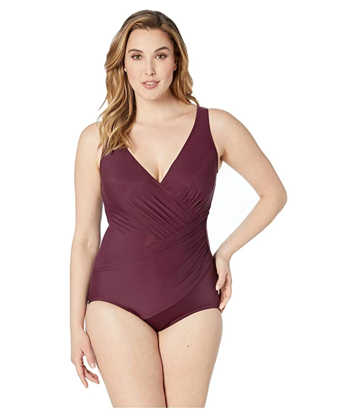 Miraclesuit Plus Size Solid Oceanus One-Piece (Shiraz Red) Women