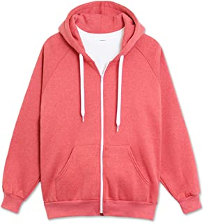 JC DISTRO Men's Raglan Hooded Unisex Zip-up Fleece Hoodie Jacket (Big Size Upto 5XL)