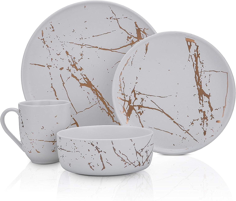 Stone Lain Modern Gold Splash China quality assurance Dinnerware Fine Exquisite Se El Paso Mall