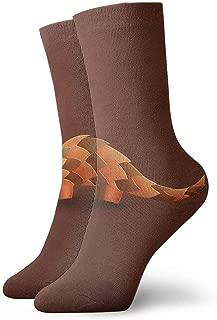 SARA NELL Men Women Novelty Funny Crazy Crew Sock Precise PangolinnAnimal Printed Sport Athletic Socks 30cm Long Personalized Gift Socks