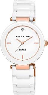 Anne Klein Women's AK/1018 Diamond-Accented Bracelet Watch