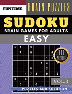 SUDOKU Easy: Huge 300 easy sudoku with answers brain games for adults Activities Book sudoku for seniors  (sudoku book easy Vol.3)