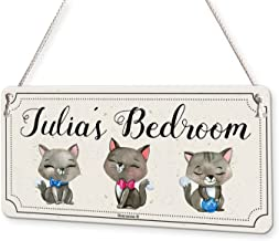 Cute Cat Drawings Kittens Personalised Childs Bedroom Door Sign Name Plaque
