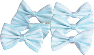Funcoo 100 pcs Lovely Cute Bow Twist Tie for Bakery Candy Lollipop Cello Bag (Sky Blue)