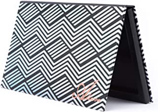 Allwon Magnetisch Palet Zwart Leeg Make-up Palet met Spiegel en 20 Stuks Zelfklevend Leeg Palet Metalen Stickers voor Oogs...