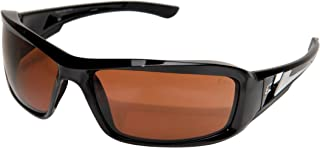 Edge Eyewear XB115 Brazeau Safety Glasses, Black with Copper