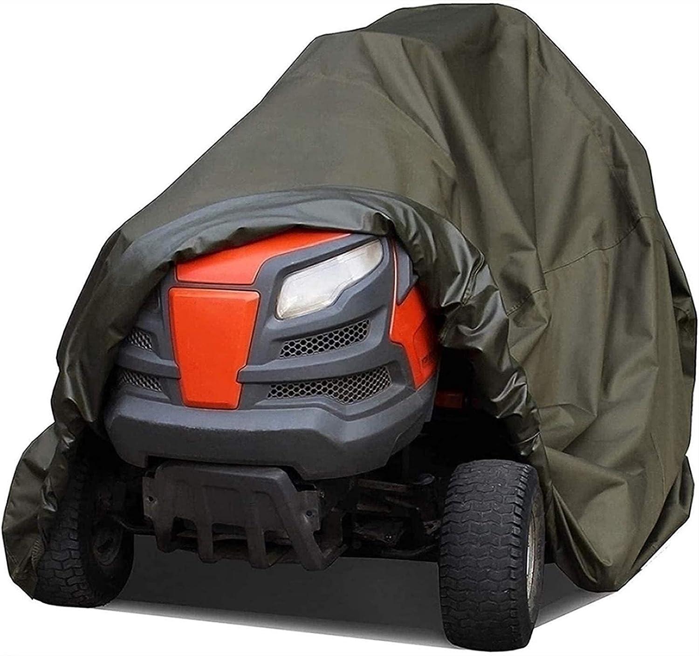 JLKDF Cubierta para cortacésped, Resistente al Agua, Resistente y Duradera, y Cubierta Resistente al Agua para Tractor de jardín con Asiento (tamaño: Grande)