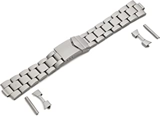 Hadley-Roma Men's MB5919RTIS&C 22 22-mm Titanium Finished Stainless Steel Watch Strap