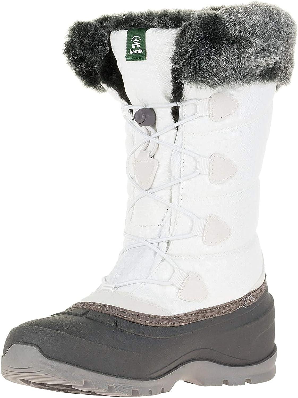 Kamik Women's Momentum 2 Snow Boot, White, 6 M US