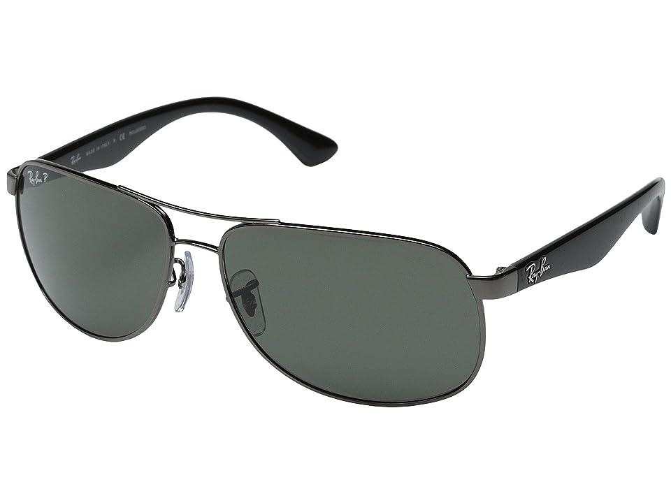 Ray-Ban RB3502 Polarized 61mm (Gunmental/Polarized) Polarized Fashion Sunglasses
