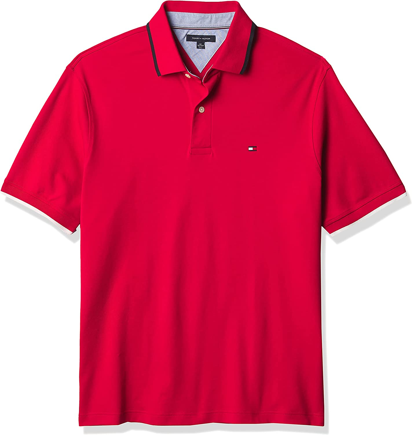 Tommy Hilfiger Big & Tall Men's Big and Tall Flag Pride Polo Shirt in Classic Fit
