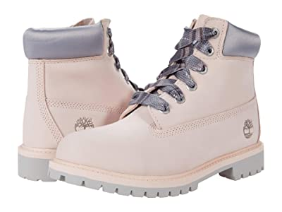 Timberland Kids 6 Premium Waterproof Boot (Big Kid) (Light Pink) Girls Shoes